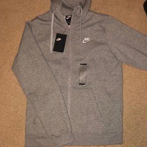 Men's Nike Full Zip Hoodie (fleece lined)